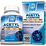 BRI Nutrition Acetyl L-Carnitine – Natural Supplement to Help Boost Energy Production, Support Memory/Focus, Promote Positive Mood – 500mg 180 Vegetable Capsules