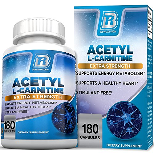 BRI Nutrition Acetyl L-Carnitine - Natural Supplement to Help Boost Energy Production, Support Memory/Focus, Promote Positive Mood - 500mg 180 Vegetable Capsules