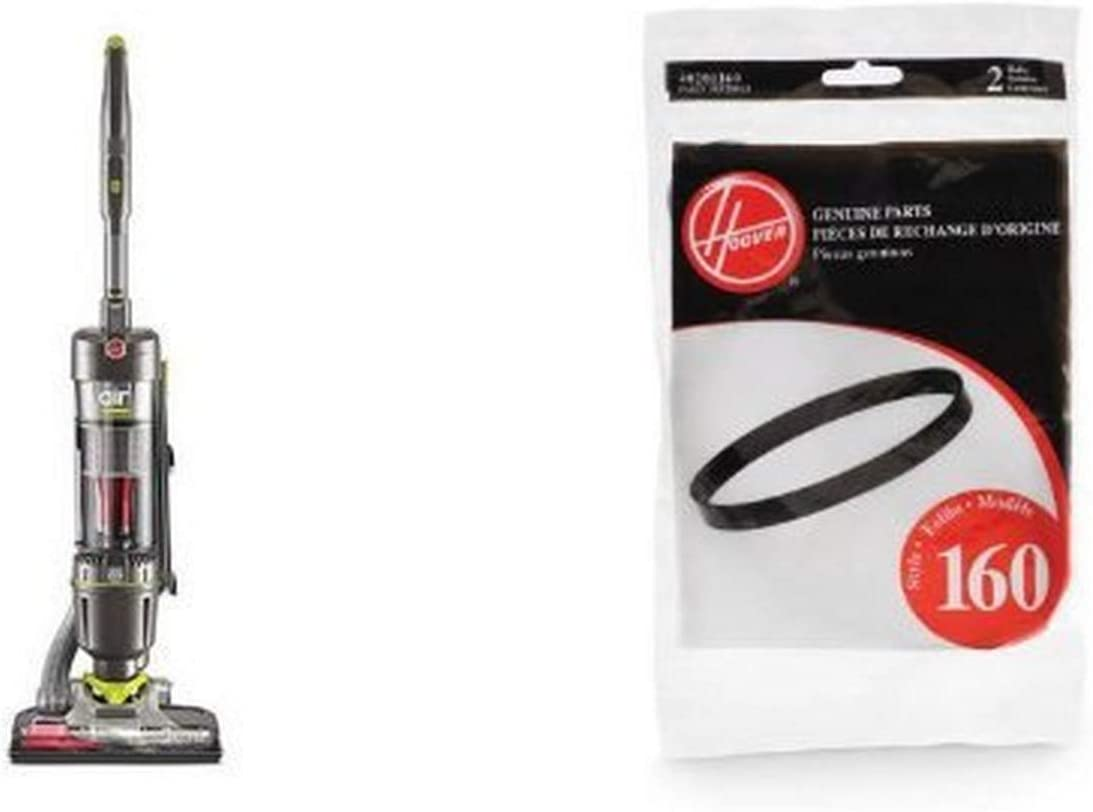 Hoover UH72400 WindTunnel Air Steerable Bagless Upright Vacuum Cleaner - Corded and Hoover 40201160 Windtunnel Agitator Belts, Hoover 38528033 2-Pack Bundle