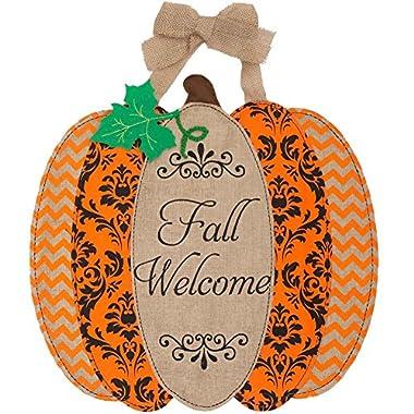 Custom Décor Pumpkin Welcome Hang Around