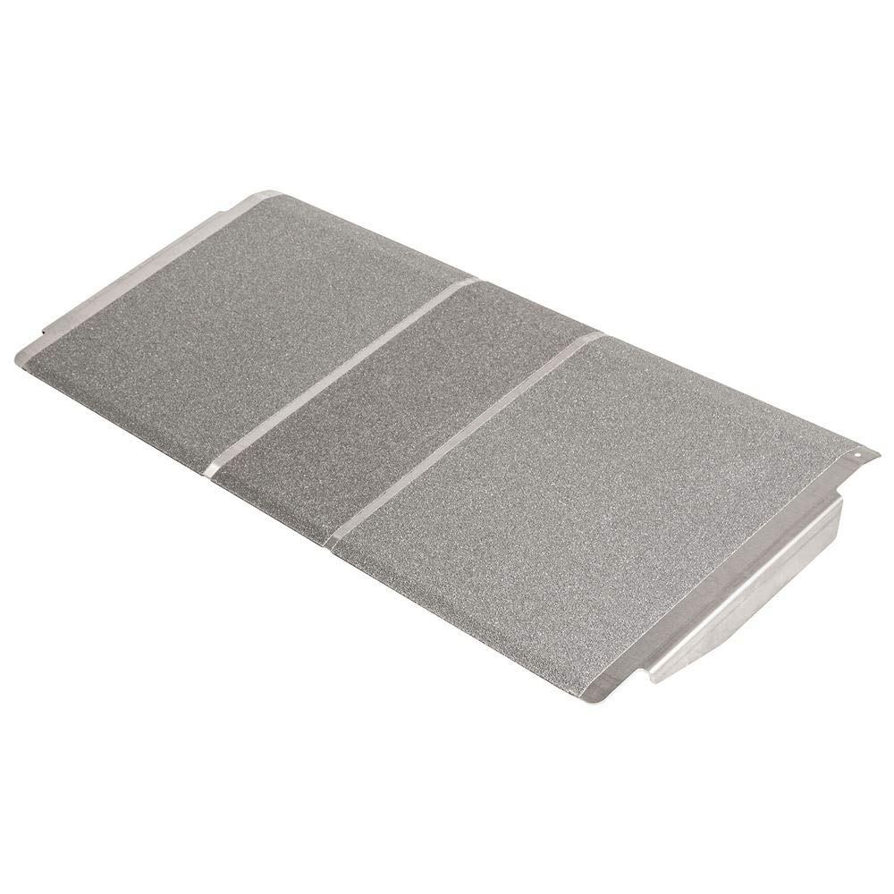 Silver Spring 2-5/8'' High, 36'' Wide Solid Aluminum Mobility Threshold Ramp for Wheelchairs, Scooters, and Power Chairs