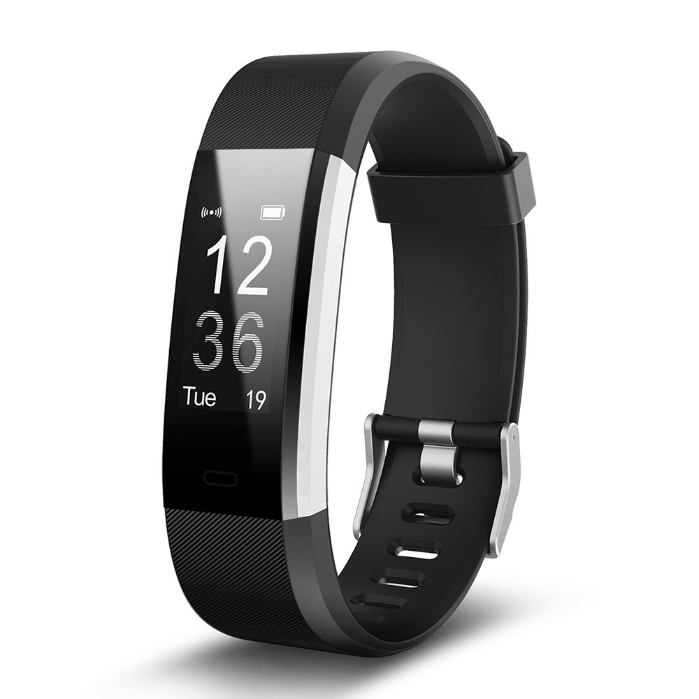 Vicli ID115 HR PLUS Fitness Tracker Big OLED 0.96''Screen Fitness Tracker Pedometer Smart Band Heart rate monitor Smartband Wristband For Android & IOS Phone (Black)
