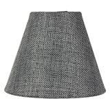 3x5x4 Granite Grey Burlap Candelabra Clip-on Lamp ShadeBy Home Concept - Perfect for chandeliers, foyer lights, and wall sconces -Small, Grey