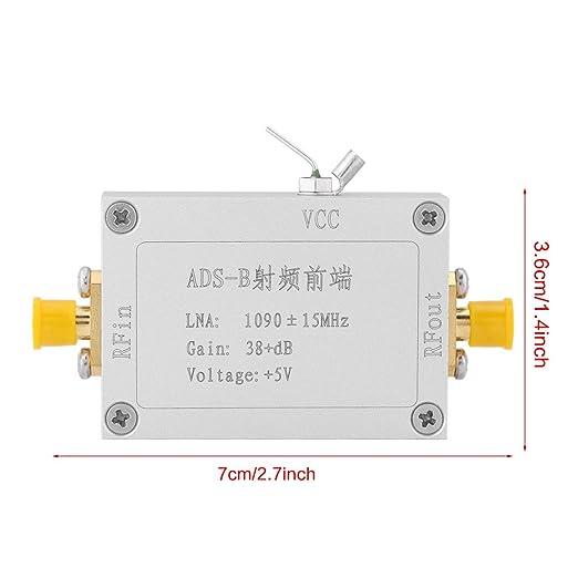 Hilitand ADS-B 1090MHz RF Preamplificadores Front-End Radiofrecuencia de bajo Ruido Amplificador 38dB Gane LNA
