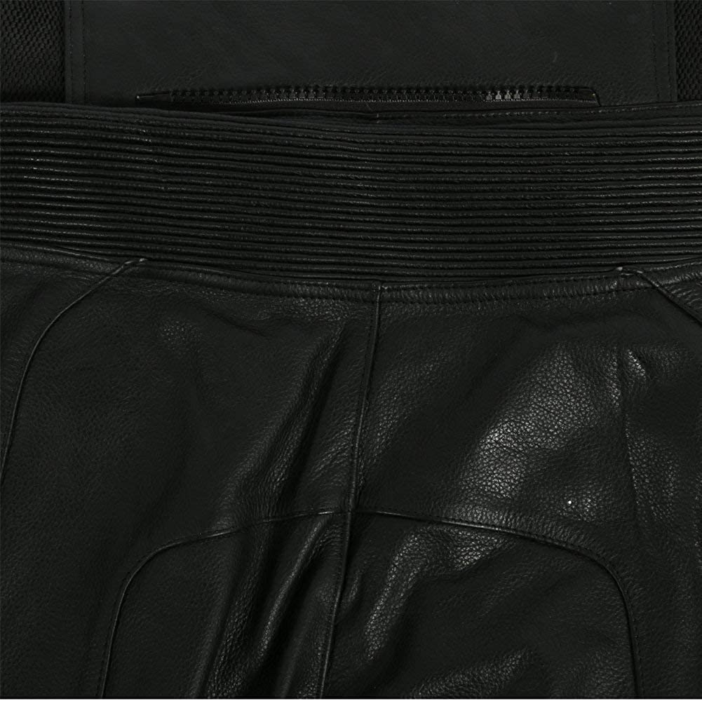 Great Size Range Mens Black Cowhide Leather Motorcycle//Motorbike Leathers With Sliders