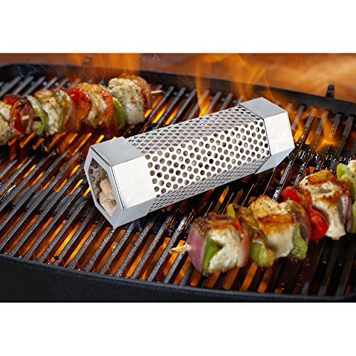KampFit Pellet Smoker Tube 6'' - Stainless Steel Perforated Wood Pellet Tube Smoker - Perfect for any Electrical, Gas, Charcoal Grills by KampFit (Image #3)