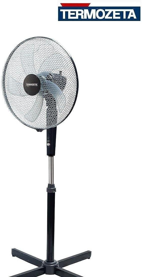 Termozeta Windzeta Plus Ventilatore domestico con pale Nero, Cromo, Grigio