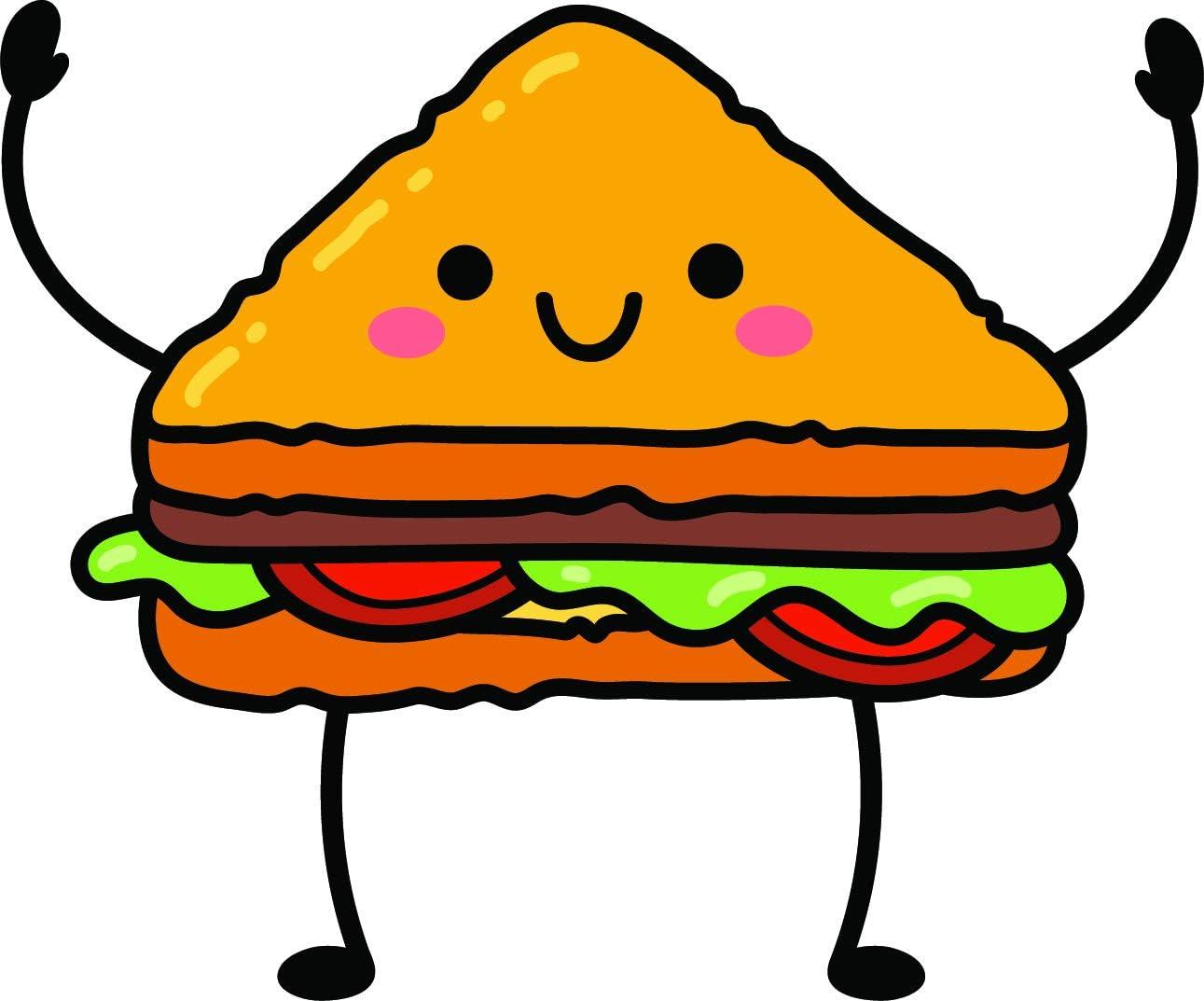 amazon com simple kawaii food foodie cartoon emoji vinyl sticker 12 wide sandwich automotive simple kawaii food foodie cartoon emoji vinyl sticker 12 wide sandwich