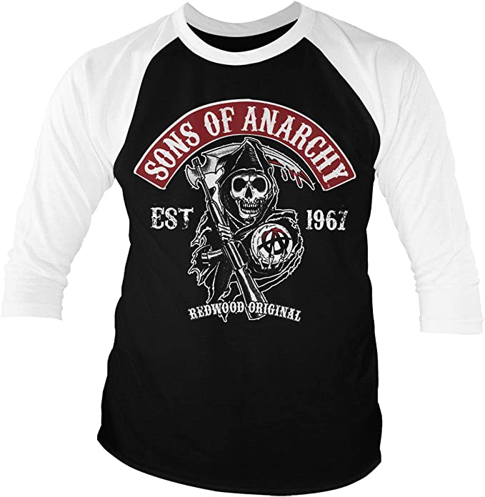 Official Licensed Sons Of Anarchy Redwood Original Red Patch Baseball Hoodie