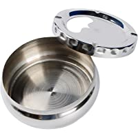 Uotyle Ashtray with Lid Stainless Steel Windproof Ashtray Portable Ashtray for Outside and Inside for Home Office…
