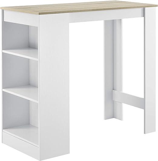 en.casa] Mesa de Bar de Bistro Elegante 110 x 50 x 103 cm Mesa ...