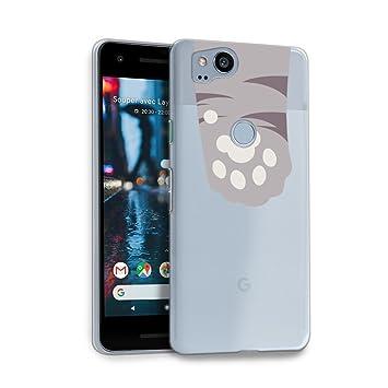 watch 07188 58ffc HelloGiftify Google Pixel 2 Case, Grey Cat Paws Cute TPU Soft Gel  Protective Case for Google Pixel 2