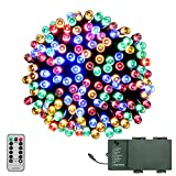 LED String Lights, LOENDE Battery Operated String Lights, Outdoor Christmas Lights for Thanksgiving Seasonal Holiday Party Wreath Christmas Tree (Multi Color, 72ft, Waterproof, Remote & Timer)