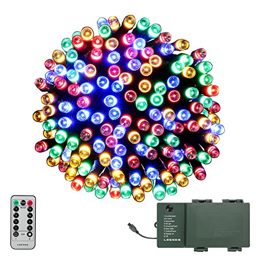 Outdoor lighted wreaths amazon led string lights loende battery operated string lights outdoor christmas lights for thanksgiving seasonal holiday party wreath christmas tree multi aloadofball Gallery