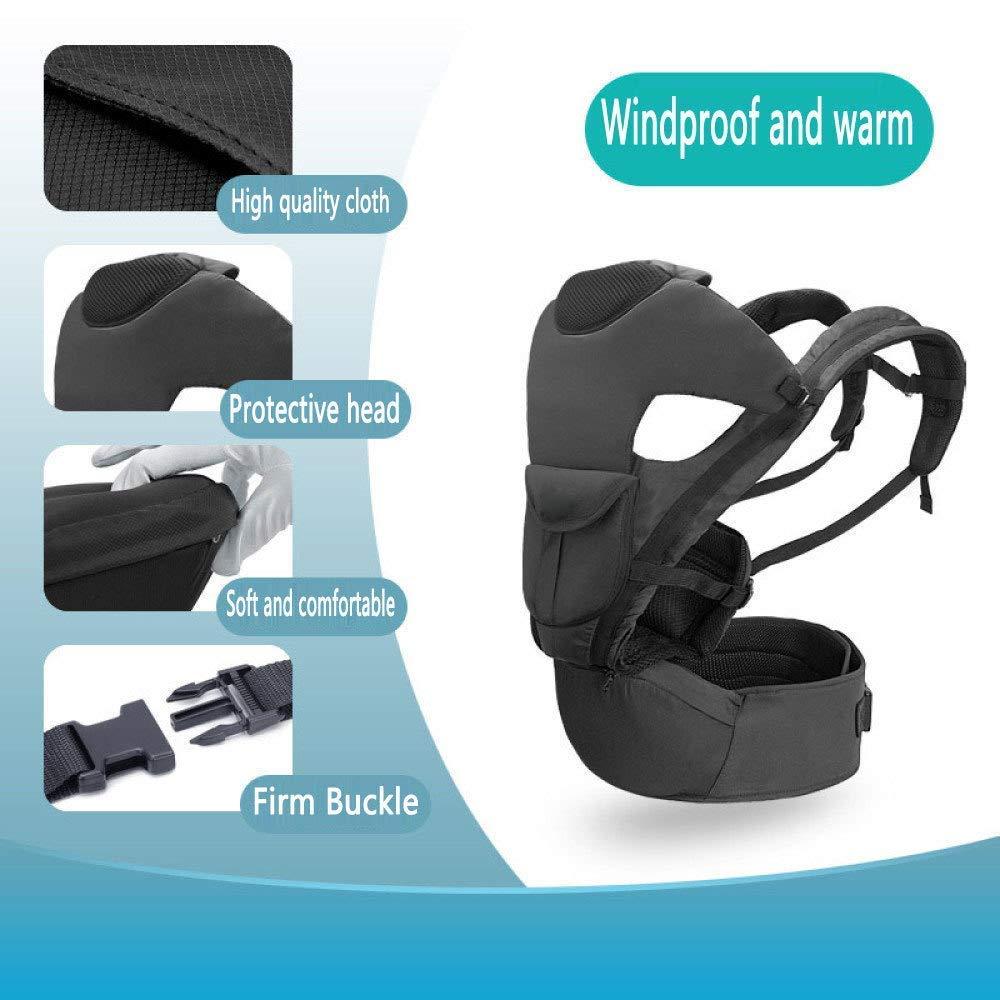 BCX Taburete de Cintura para Multifuncional bebés Comodidad Multifuncional para Tres en uno Suave y Transpirable Ergonómico Correa de bebé para Cuatro Estaciones para niños,B 9dba37