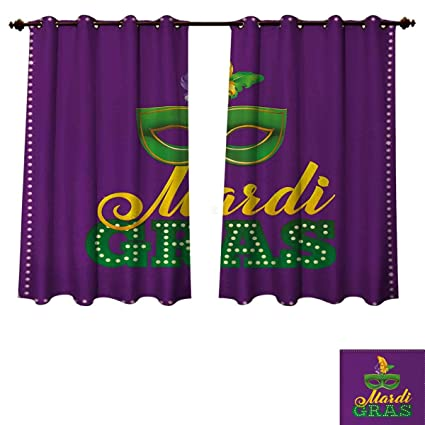 Amazon com: Anzhouqux Mardi Gras Blackout Thermal Curtain