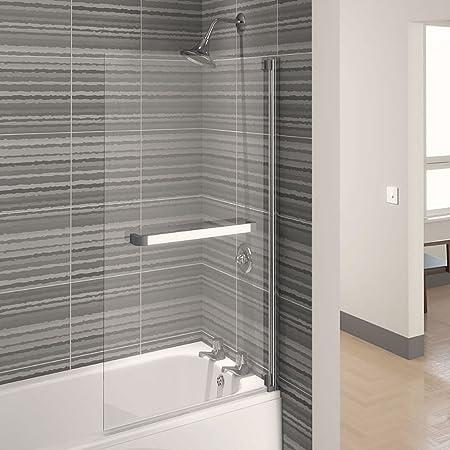 Aqualux 750 mm AQUA 4 de baño cuadrada mampara de baño con 4 mm de ...