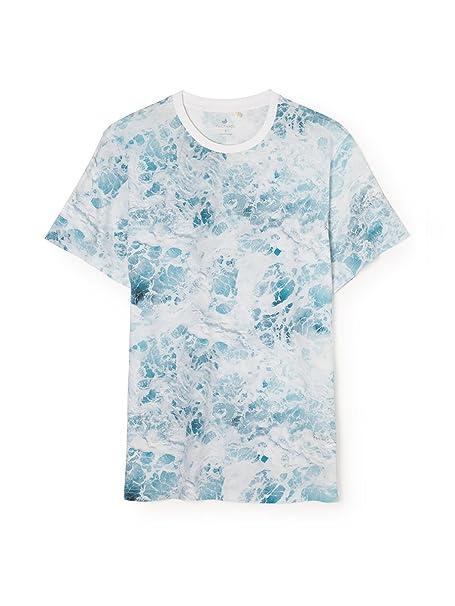 TWOTHIRDS Camiseta Hombre - 100% algodón orgánico - Inagua (Small)