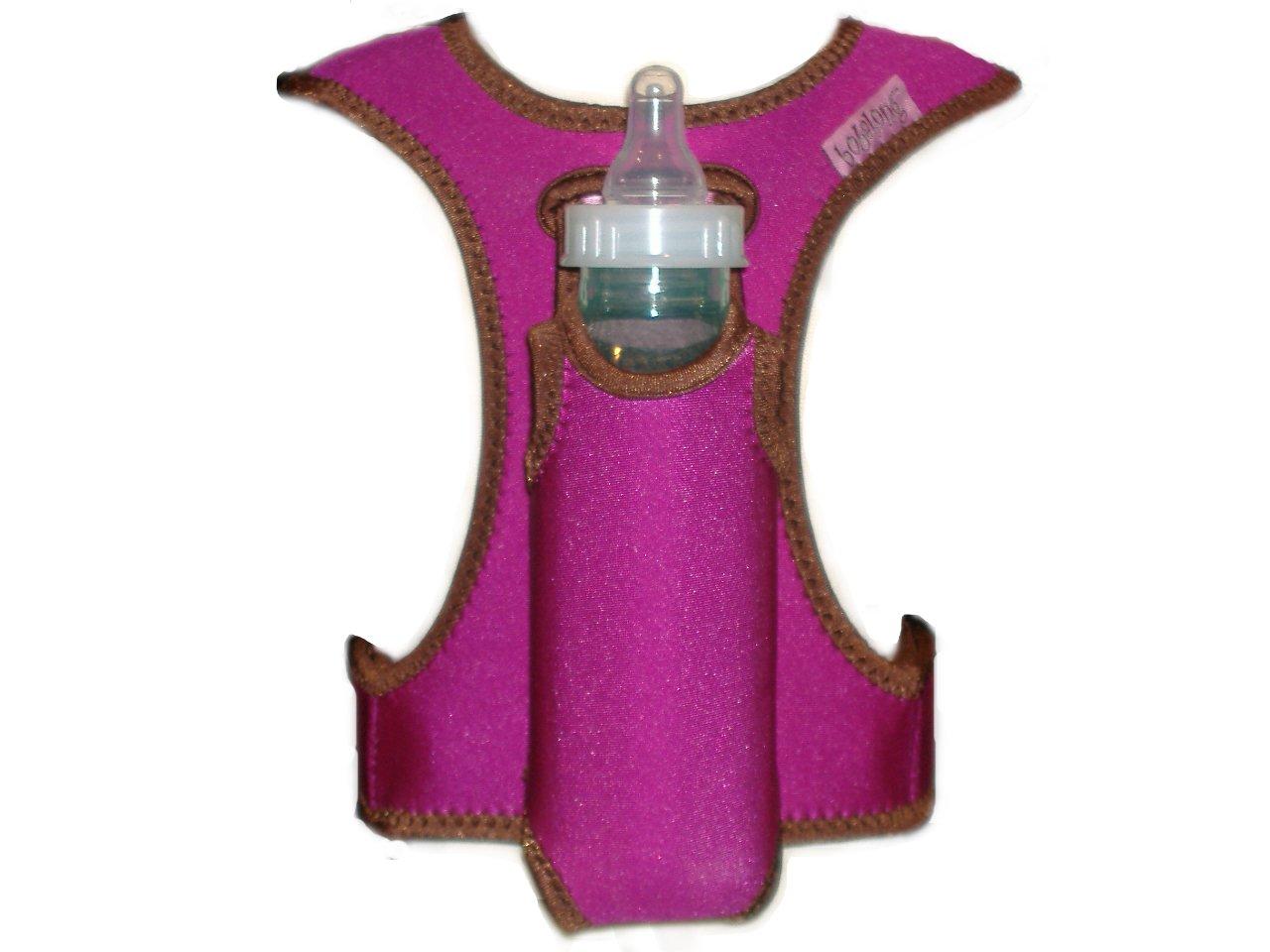 bobalong Bottle Holder, Magenta/Chocolate by bobalong