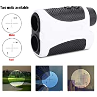 GOTOTOP Golf Range finder, 400M Portable Golf Laser Range Finder 6X Magnification Scope Slope Compensation Angle Scan w/Case Rangefinder