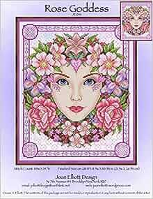 rose goddess je041 cross stitch chart joan elliott