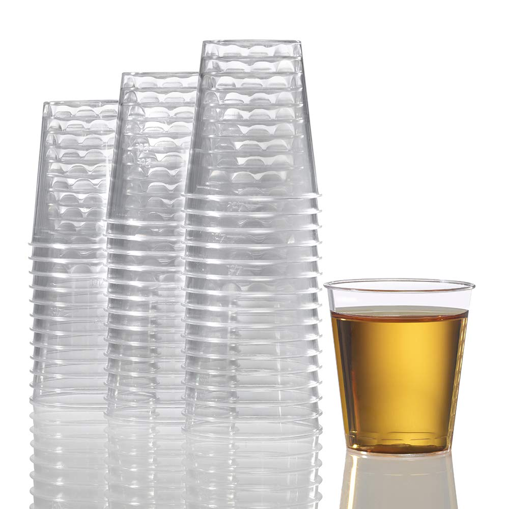 1000 Plastic Shot Glasses - 2 Oz Disposable Cups - 2 Ounce Shot Glasses - Ideal for Whiskey, Wine Tasting, Food Sampling and Sauce Dipping at Catered Events, Parties and Weddings (Clear) by Stock Your Home