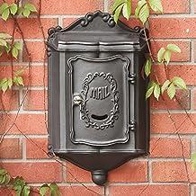 European-style Villa Retro Black Mailbox Cast Aluminum Outdoor Garden Rainproof Letterbox Newspaper Boxes
