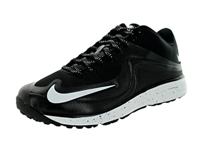 Nike Men s Lunar MVP Pregame Black White Baseball Training Shoes US 13 5   5N8TY8IOP