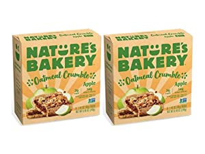 Nature's Bakery Apple Oatmeal Crumble, Whole Grain Bar, Vegan, NonGMO - 12 ct