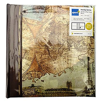 Amazon old world map photo album with memo writing space old world map photo album with memo writing space holds 200 photos 6 gumiabroncs Gallery