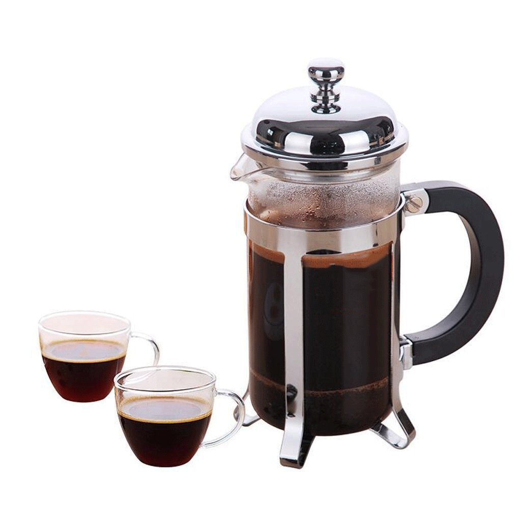 Acquisto ZHAOJING Pressione di legge caffettiera in acciaio inox caffettiera casa Brew caffè filtro piatto in vetro filtro tazza (caffè bollitore + 2 tazze) ( Capacità : 350ml ) Prezzi offerta