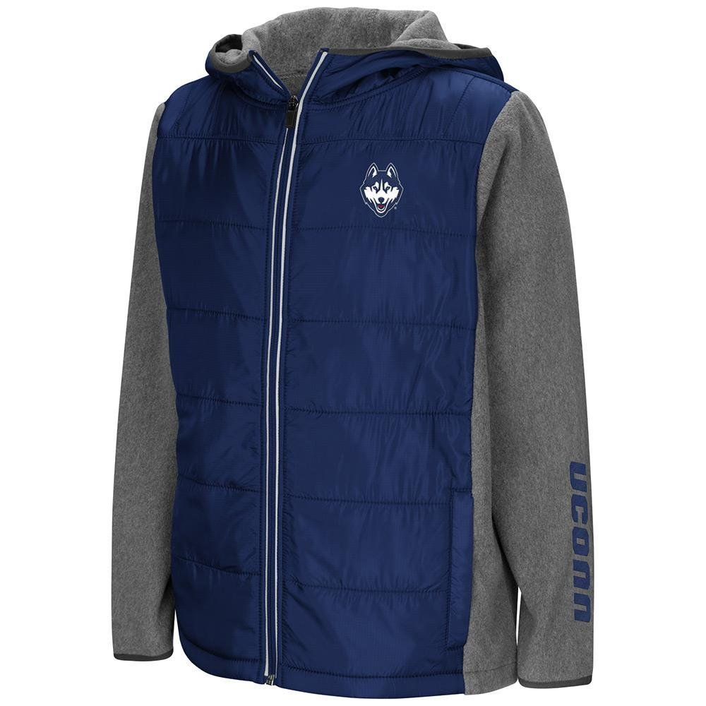 Colosseum Youth UConn Huskies Full Zip Puff Jacket