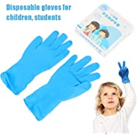 Nitrile Disposable Latex Glove for Children Kids Boys Girls Small Size Thickened Schooling Gloves Anti Pollution,Blue