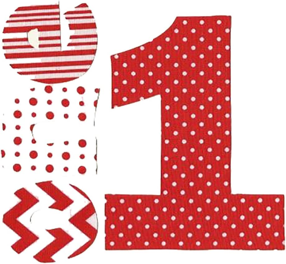 Red Polka Dot Iron On Letters /& Numbers