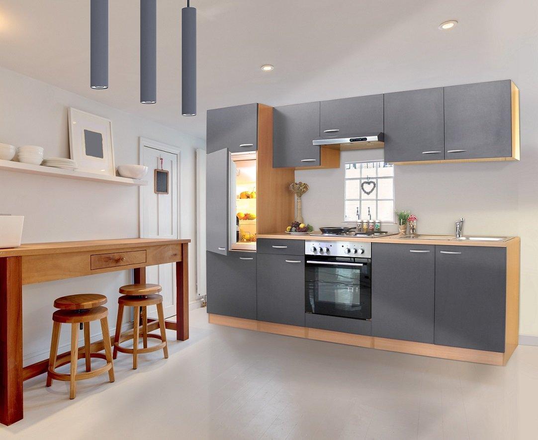 respekta KB 270 BGE Küche Küchenzeile Einbauküche Küchenblock 270 ...