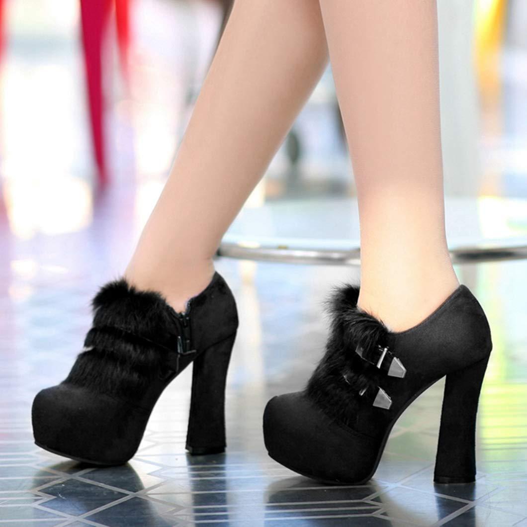 Stiefeletten für Frauen High Heel Winter Frühling Gürtelschnalle Pumps Fashion Fashion Fashion Party Sexy Schuhe 9facce