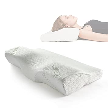 sleep memory foam contour u0026 ergonomic design for neck u0026
