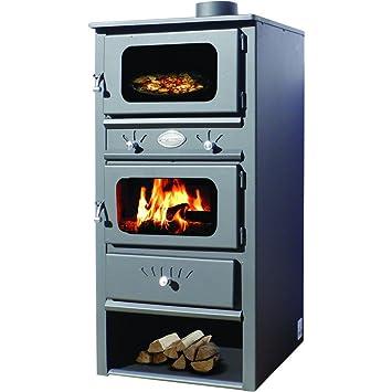 Estufa de leña con horno de Zvezda, modelo MF 10, generación de 10 ...