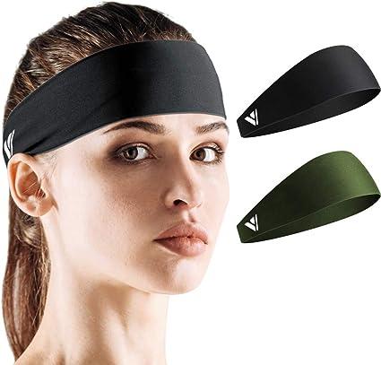 Men Women Sweatband Headband Yoga Gym Running Stretch Sports Head Band Hair Band