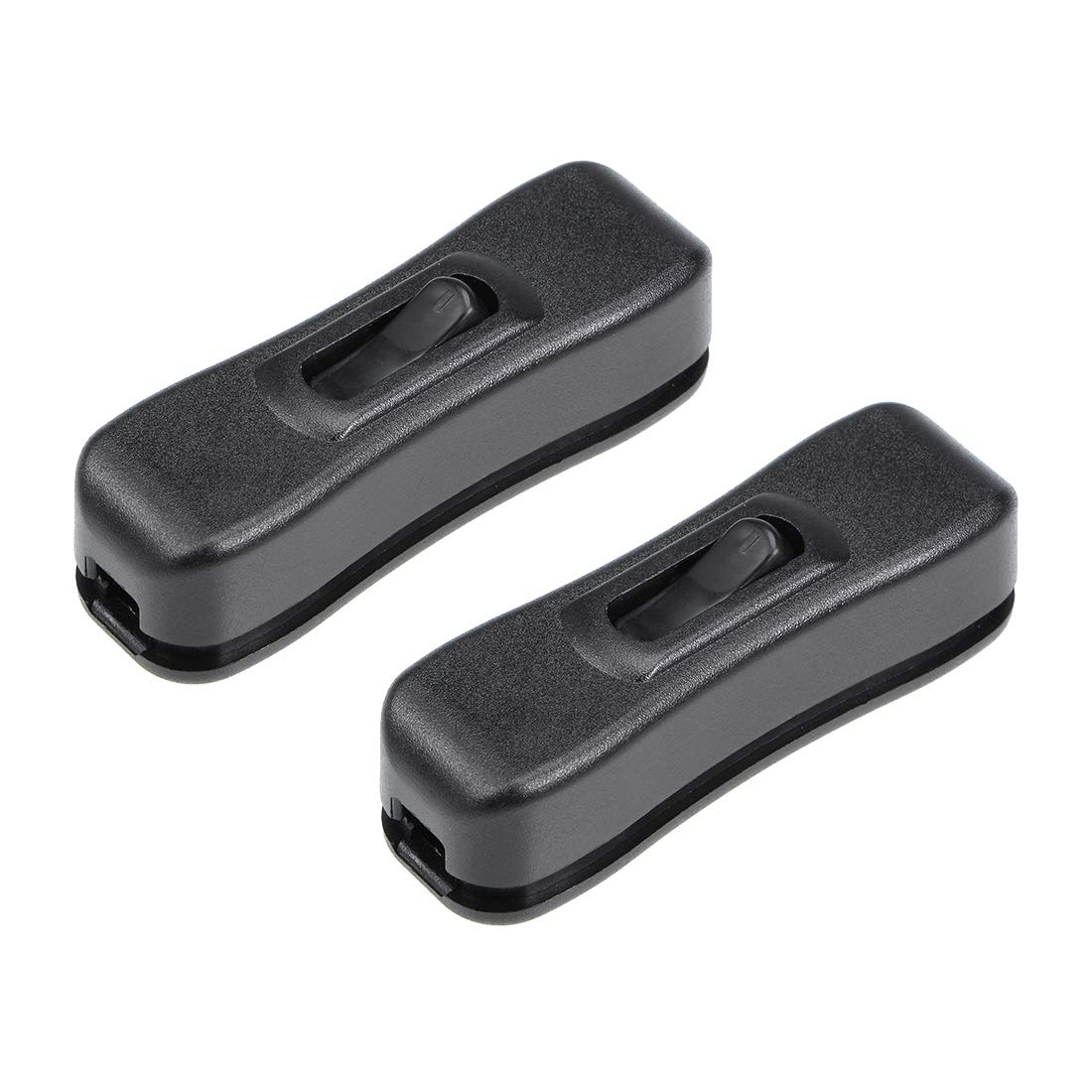 uxcell/® Inline Cord Switch AC 250V 2A On-Off SPST Feed-Through Rocker Switch for Bedroom Table Lamp Desk Light Pack of 2