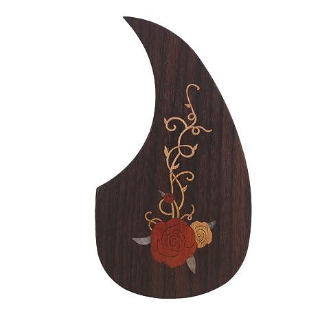 yibuy Golpeador para marrón con adhesivo de doble cara para guitarra madera (40 – 41