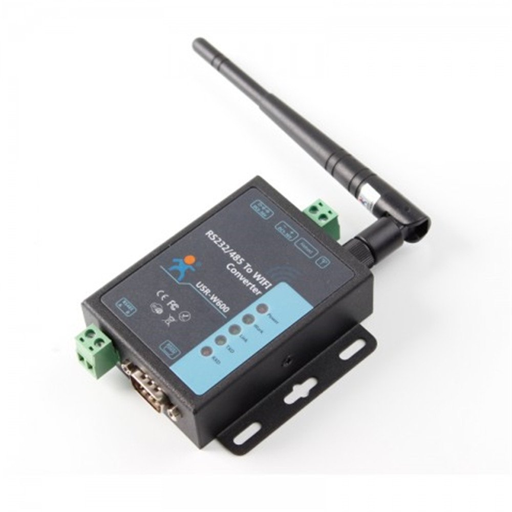 BGNing USR-W600 Industrial Serial Server RS232 RS485 to WiFi Converter Wireless Data Transmission Connection TCP/UDP HTTPD