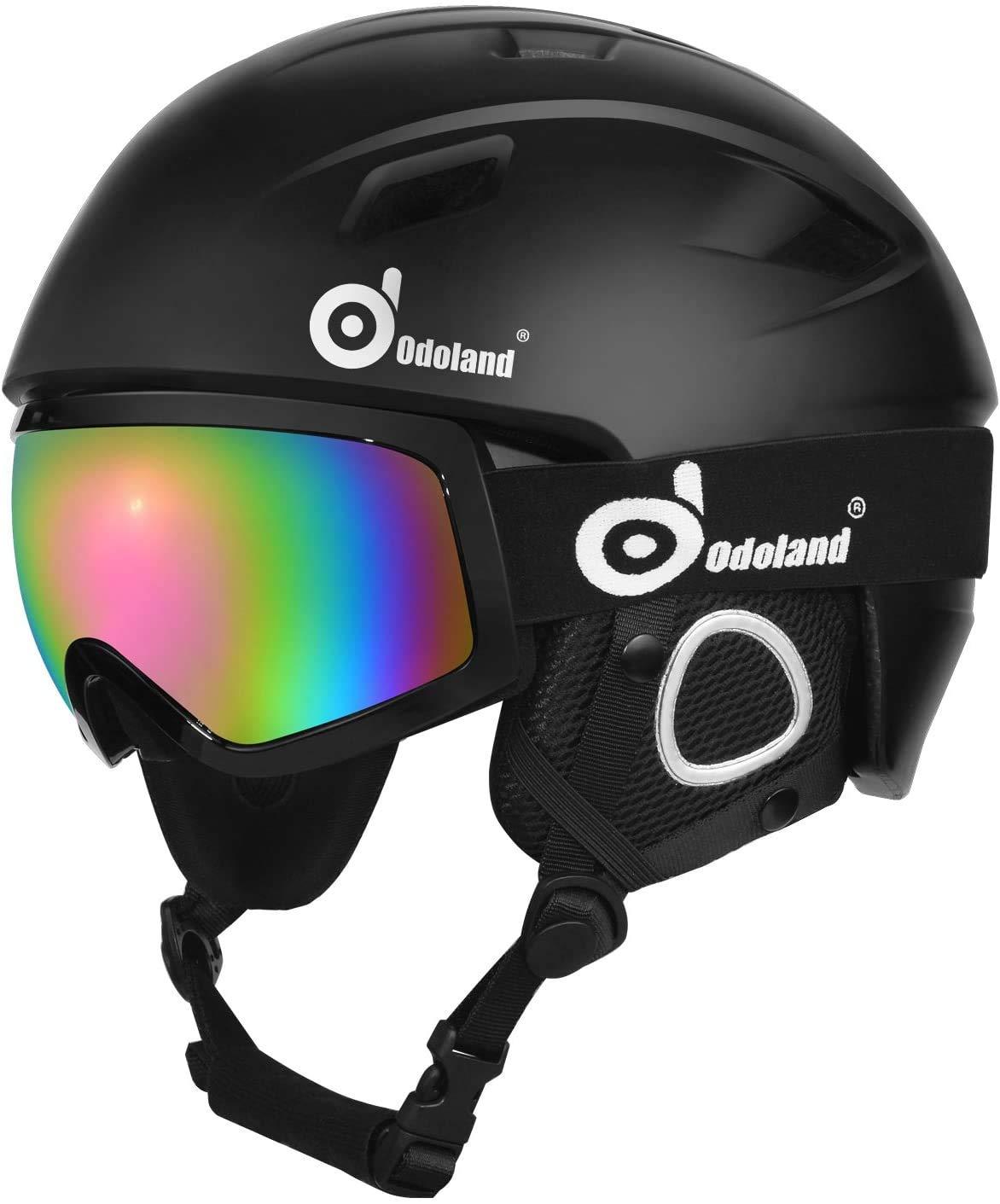 Odoland Snow Ski Helmet and Goggles Set