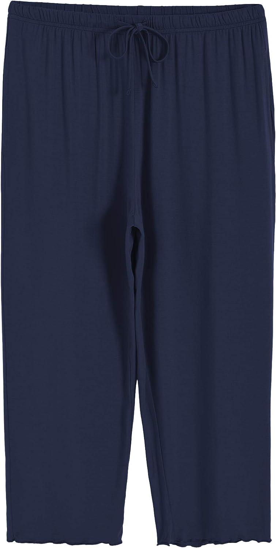 Latuza Women/'s Sleepwear Tops with Capri Pants Pajama Sets