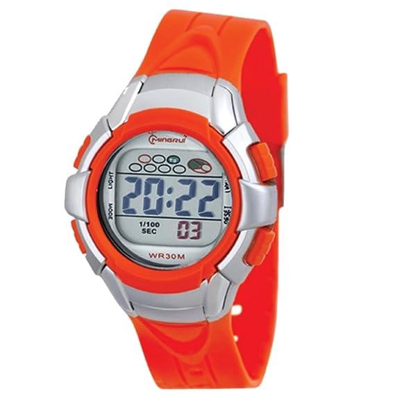 Montre Concept-Reloj digital de mujer/infantiles, correa de plástico, color naranja-redondo Gris-marca Mingrui-MR8512, color naranja: Amazon.es: Relojes
