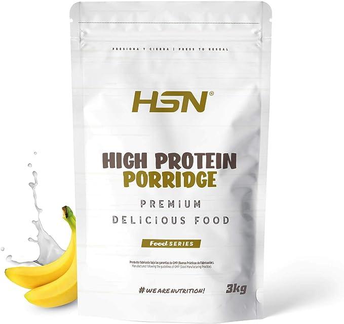 Gachas de Avena Proteicas de HSN   Porridge Proteico   Fácil y Rápido de Preparar   Con Proteína de Suero   Bajo en Azúcar   Apto para la Dieta ...