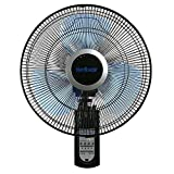Home Joy Wall Fan With Remote Oscillating 16 Inches Indoor Garage Workshop Greenhouse Cooling Mount Fans 3 Speed