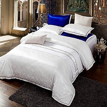 Zange Betten Luxus Satin Jacquard Bettwasche Sets 2 3pcs King Size