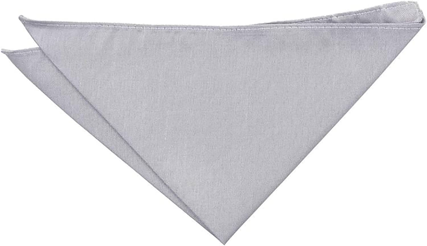 DQT Plain Shantung Wedding Handkerchief Pocket Square for Men in Various Colours