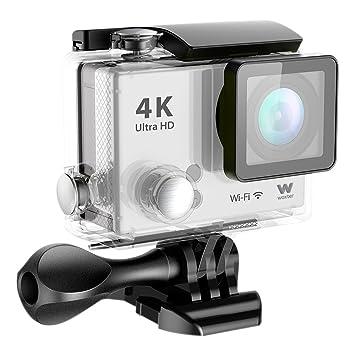 Woxter Sportcam 4K Silver - Cámara Deportiva Digital (Sumergible hasta 30m y Accesorios Múltiples para